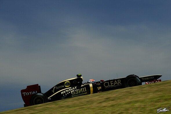 Aufwärtstrend: Romain Grosjean auf der Interlagos-Strecke in Brasilien
