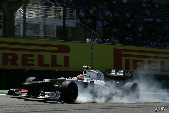 Sergio Perez kämpfte im Freien Training mit den Reifen