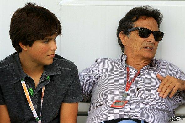 Vater und Sohn am Rande des Großen Preises von Brasilien 2012