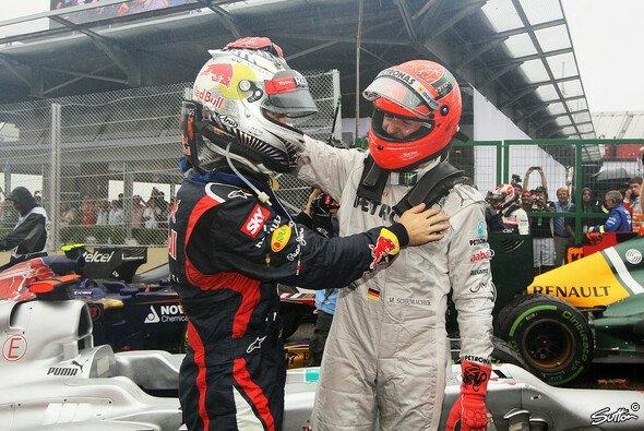Freunde im Fahrerlager: Michael Schumacher und Sebastian Vettel
