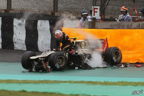 Häufige Crashs sind die Kehrseite von Romain Grosjeans starken Speed