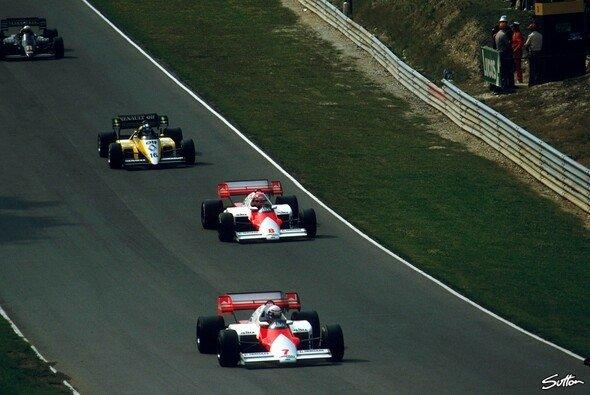 Niki Lauda lieferte auf dem Weg zu seinem letzten WM-Titel eine starke Aufholjagd gegen Alain Prost - Foto: Sutton