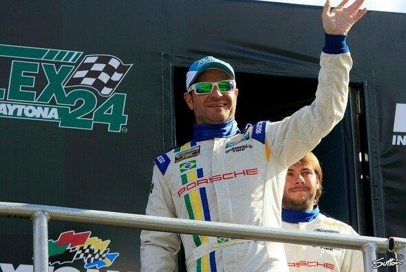 Rubens Barrichello während des Vorprogramms zum Daytona-Spektakel - Foto: Sutton