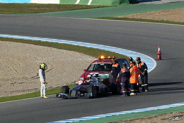 Nico Rosberg musste vorzeitig seine Testfahrt unterbrechen