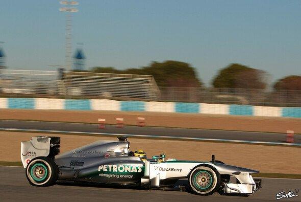 Nico Rosberg bei den Testfahrten in Jerez