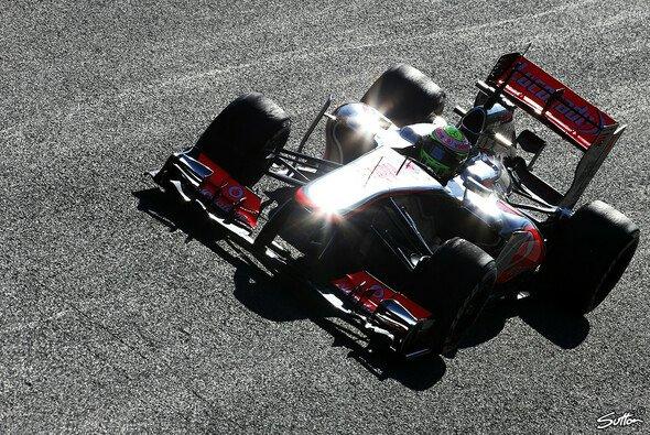 Sergio Perez fuhr den MP4-28 zum ersten Mal