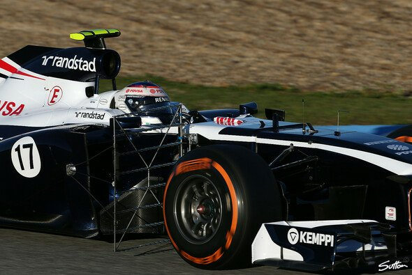 Valtteri Bottas war in Jerez mit Aero-Gittern unterwegs