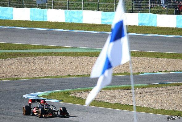 Kimi Räikkönen drehte am Donnerstag seine ersten Runden in Jerez