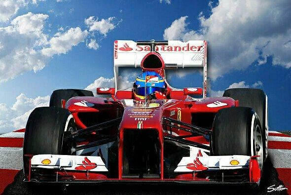 So sieht es aus, wenn Fernando Alonso im Ferrari sitzt