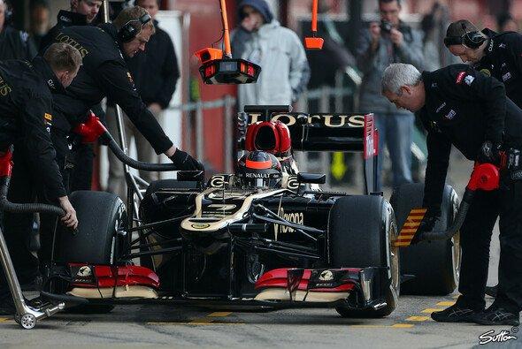 Kimi Räikkönen verbrachte viel Zeit in der Box