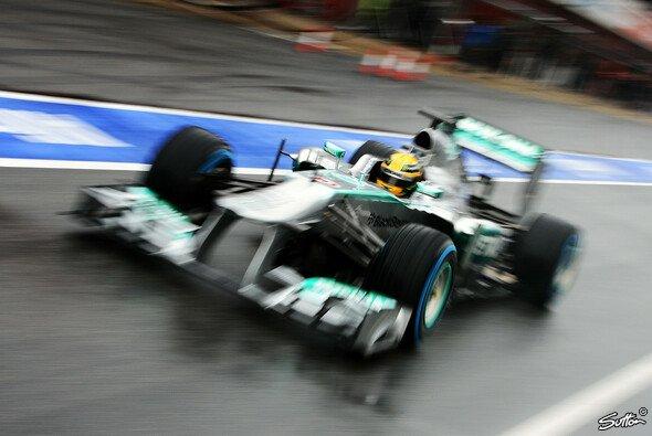 Lewis Hamilton beendete Barcelona-Test Nr. 1 mit der Bestzeit