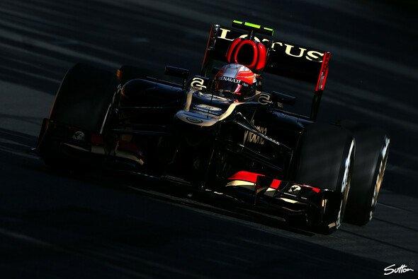 Romain Grosjean sicherte sich die Bestzeit vor dem Regen - Foto: Sutton