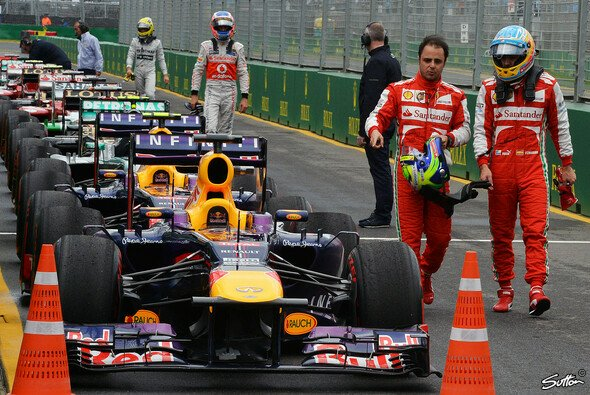 Gemeinsam gegen Red Bull: Aber Massa musste in Melbourne einmal mehr den Edelhelfer spielen
