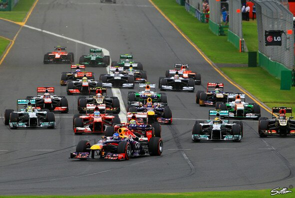 Am Start lief für Vettel noch alles nach Plan. - Foto: Sutton
