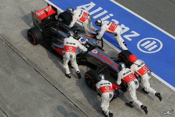 Jenson Button musste die Segel streichen