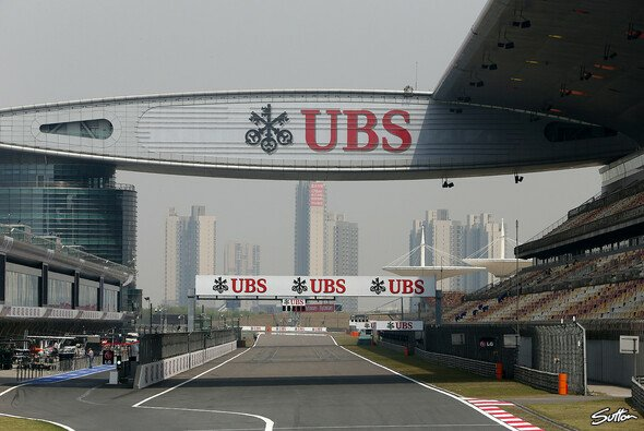 Die Start-und-Zielgerade des Shanghai International Circuit