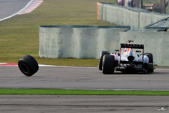 Eine von nur vielen kuriosen Szenen der letzten Jahre mit Beteiligung der Reifen - Foto: Sutton