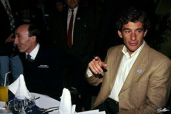 Gemeinsamens Dinner mit dem Chef: Auch Frank Williams logierte mit Senna im Hotel Castello - Foto: Sutton