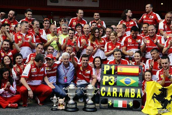In Barcelona standen zum einzigen Mal in dieser Saison zwei Ferrari-Piloten auf dem Podest - Foto: Sutton