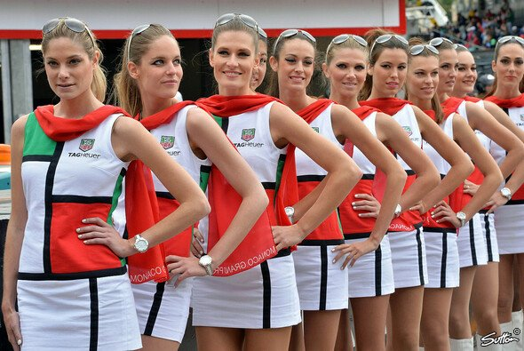 Auch die Grid Girls in Monaco freuen sich bereits auf ihren Einsatz in einer Woche