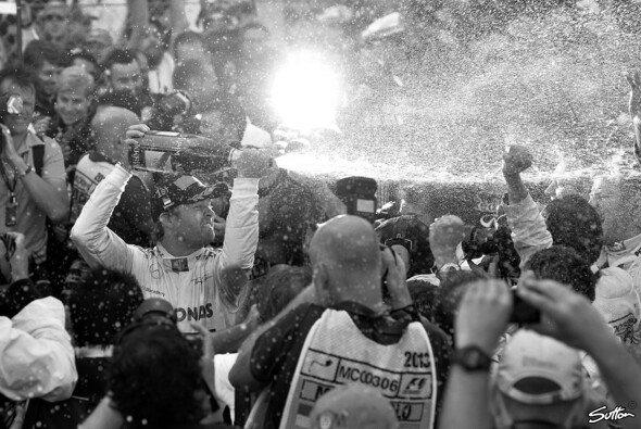 Nico Rosberg hatte in Monaco allen Grund zum Jubel - Foto: Sutton