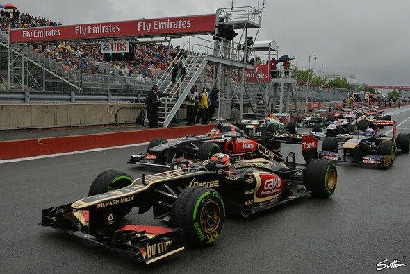 Ganz deutlich zu sehen: Räikkönen und Ricciardo reihten sich nicht standesgemäß ein
