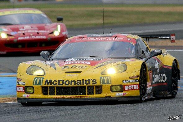 Die bullige Larbre-Corvette vom Typ C6.R bei den 24 Stunden von Le Mans 2013