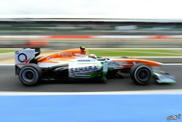 Adrian Sutil freut sich auf den Heim-GP - mit hoffentlich haltbareren Reifen - Foto: Sutton