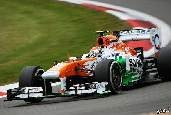 Adrian Sutil kam mit den neuen Reifen nicht zurecht