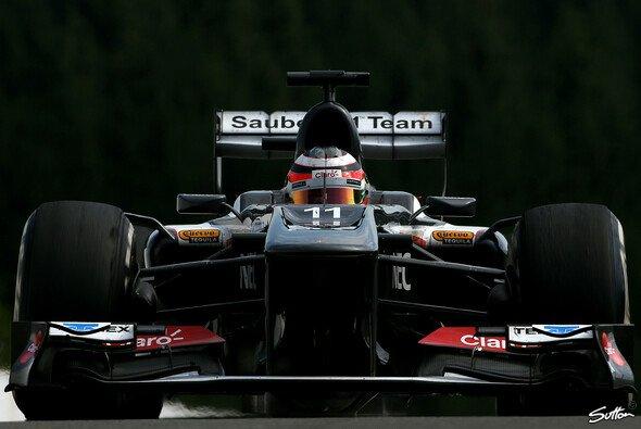 Nico Hülkenberg im Sauber C32 auf dem Ardennenkurs in Spa-Francorchamps