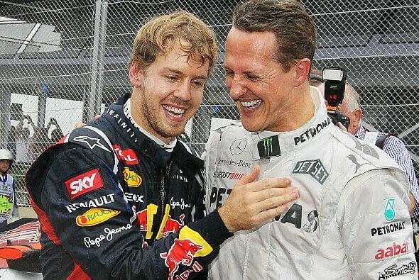 Kennen und mögen sich: Sebastian Vettel und Michael Schumacher