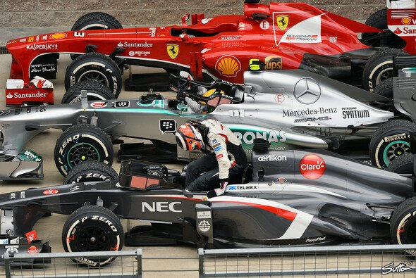 Im Parc Ferme auf gleicher Höhe, im Rennen unbezwingbar: In Korea ließ Nico Hülkenberg den Ex-Weltmeistern Fernando Alonso und Lewis Hamilton keine Chance und wurde sensationell Vierter.