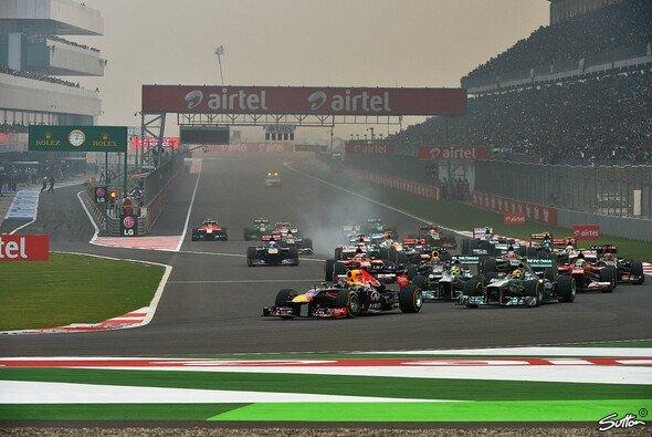Sebastian Vettel gewann alle drei Rennen in Neu Delhi