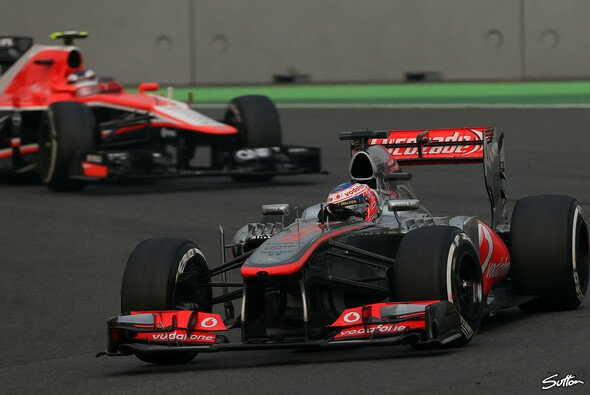 Satz mit X: Jenson Button erlebte ein Rennen zum Vergessen - Foto: Sutton