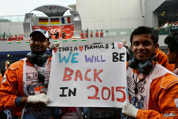 Ein paar Anhänger hat der Indien GP schon gefunden