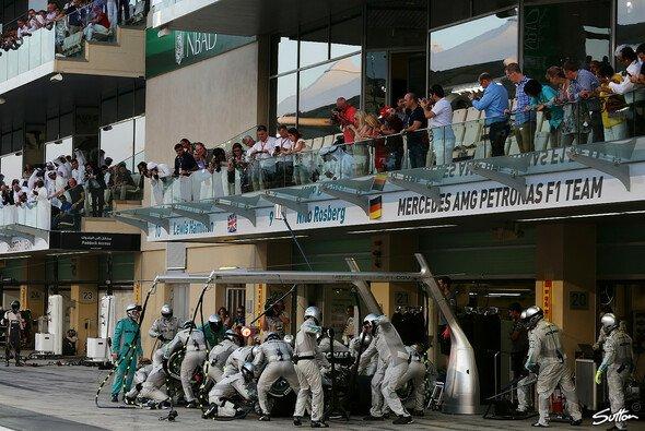 In der Boxengasse war während des USA GP nicht allzu viel los