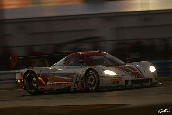 Der siegreiche Corvette-Prototyp auf dem berühmten Daytona International Speedway