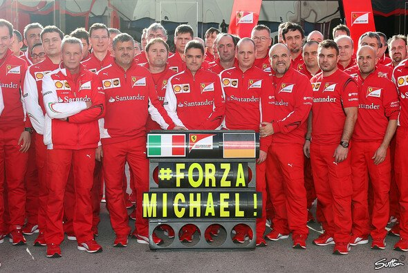 Forza Michael lautete Ferraris Botschaft - Foto: Sutton