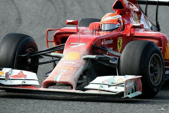 Kimi Räikkönen drehte 31 Runden mit dem roten Staubsauger