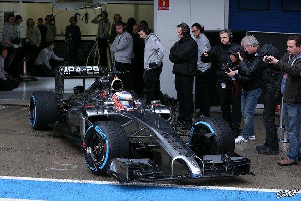 Button fuhr am zweiten Testtag Bestzeit