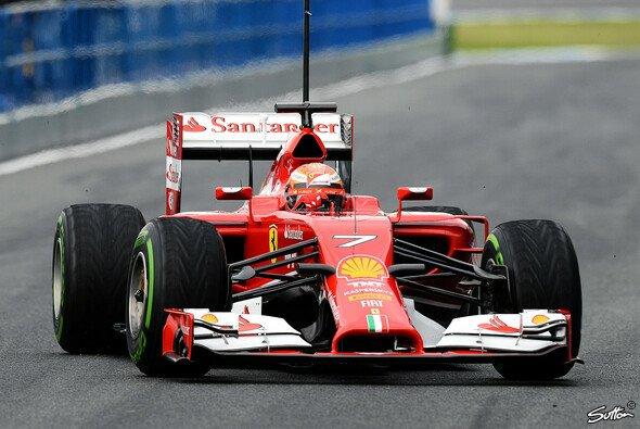 Kimi Räikkönen fuhr am zweiten Testtag die zweitschnellste Zeit