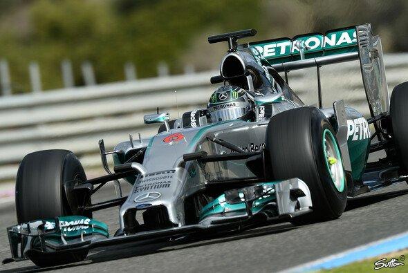 Nico Rosberg legte am Mittwoch 97 Runden in Jerez zurück