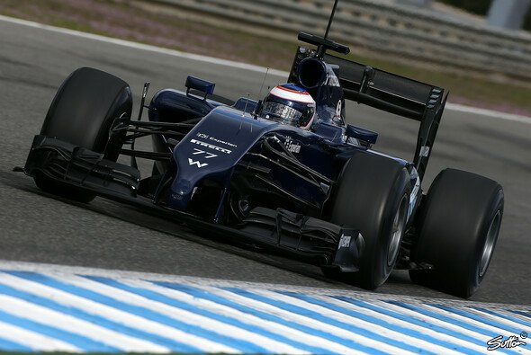 In Jerez war der Williams FW36 ziemlich frei von Sponsoren-Logos
