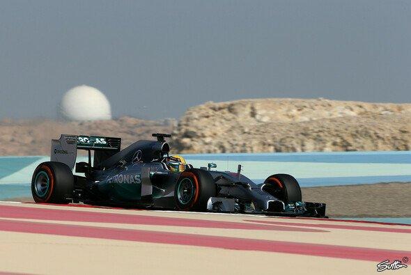 Lewis Hamilton gab am dritten Tag in Bahrain richtig Gas