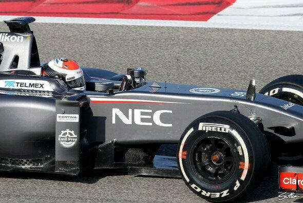 Adrian Sutil machen die Reifen Sorgen