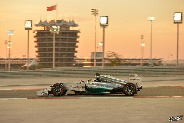 Auf diesem Bild vom Sonntag hat Lewis Hamilton die superweichen Reifen drauf