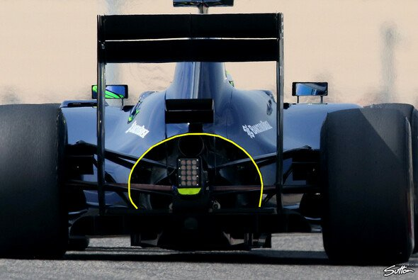 So sah das Williams-Heck noch in Bahrain aus - Foto: Sutton/Motorsport-Magazin.com