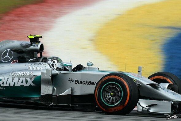 Nico Rosberg fuhr vorne weg - aber nur knapp