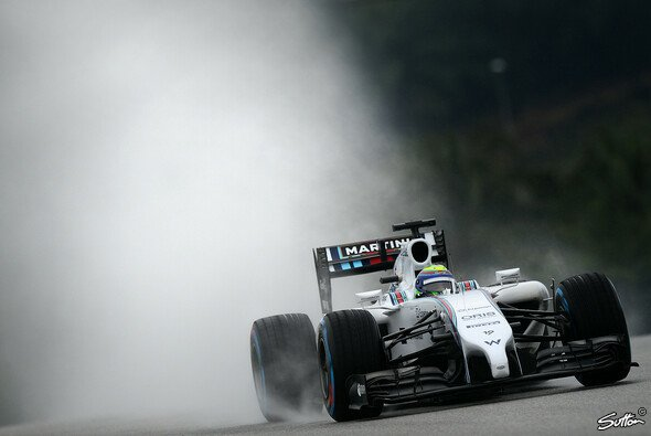 Bei Williams läuft im Nassen nichts zusammen