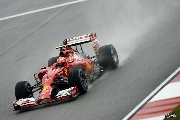 Kimi Räikkönen hatte im Regen schon das schlimmste befürchtet